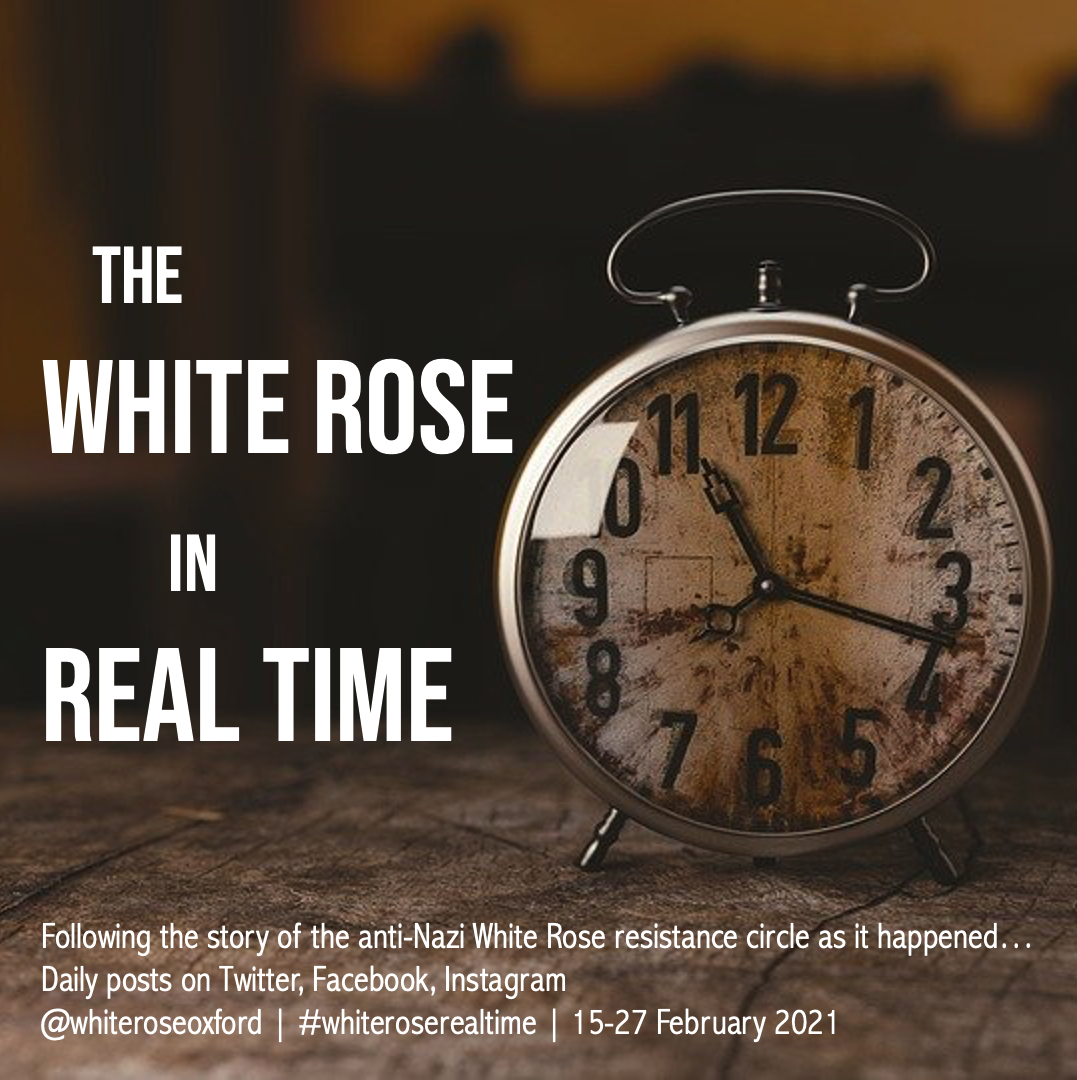 The White Rose in Real Time on Social Media